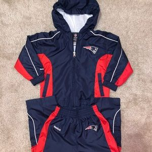 New England Patriots toddler track suit